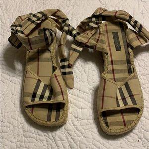 Burberry tie up espadrilles